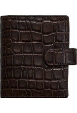 Kalpa 1311-Cm Kalpa pocket organiser Crocoprint brown - leather + free agenda