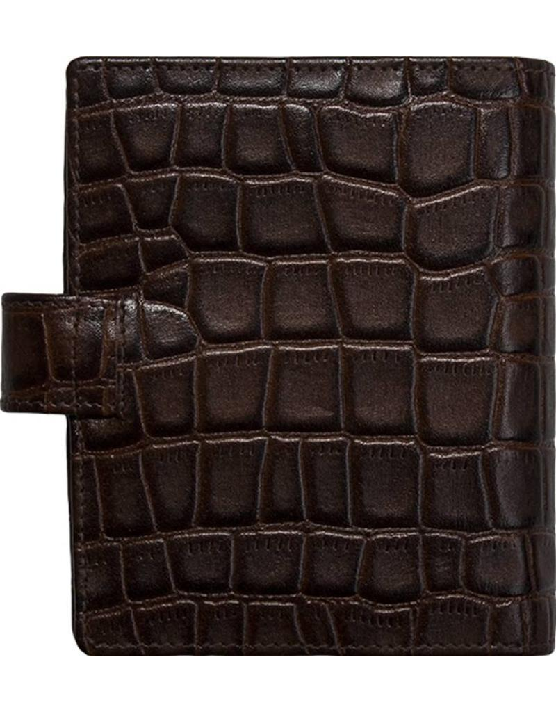 Kalpa Pocket organiser croco print brown - leather