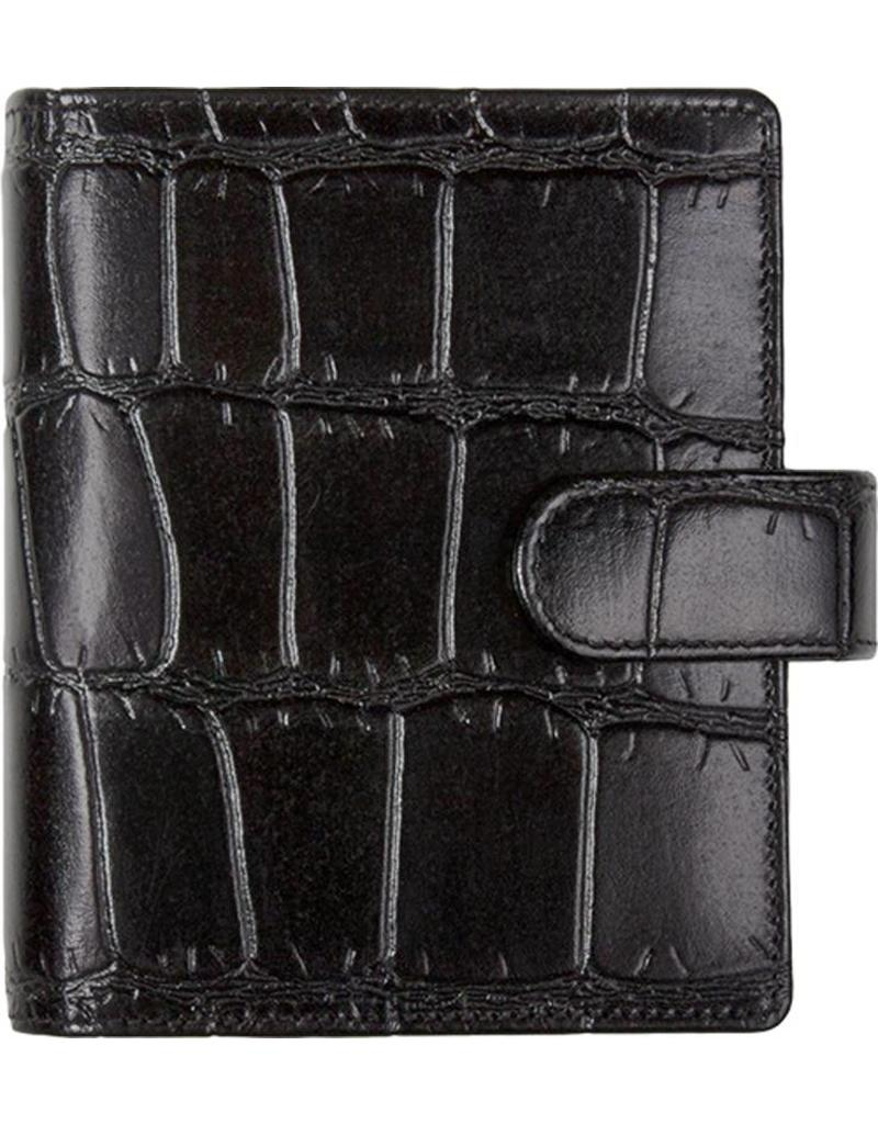 Kalpa Pocket (junior) organizer crocoprint zwart - leer