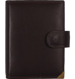 De Rooy 1311-Xd Kalpa Junior Pocket Organiser Handmade Leather With Paper Fillers, Journal, Diary - Sepia Brown