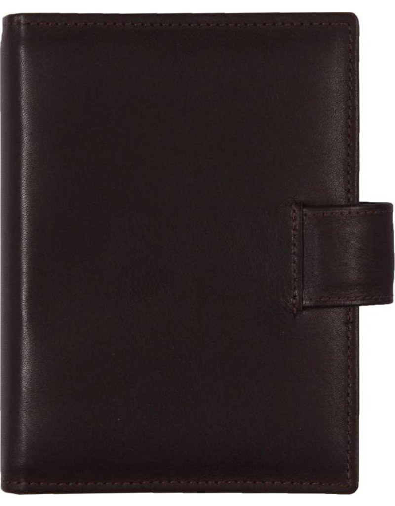 De Rooy de Rooy pocket organiser sepia brown - leather