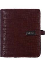 Kalpa 1311-42 Kalpa Junior Pocket Organiser With Paper Fillers, Weekly Planner, Journal, Diary - Croco Brown