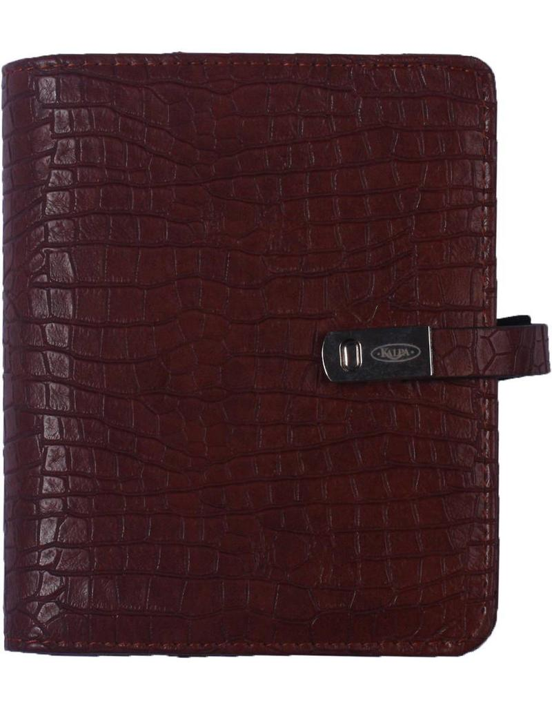 Kalpa Pocket (junior) organizer croco bruin