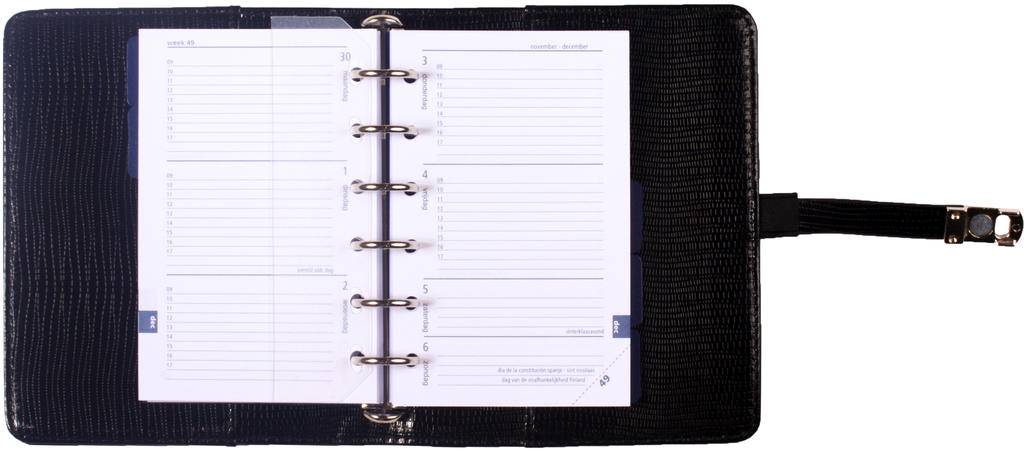 Kalpa 1311-44 Kalpa Junior Pocket Organiser With Paper Fillers, Weekly Planner, Journal, Diary - Agypa Black