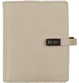 Kalpa 1311-50 Kalpa Junior Pocket Organiser With Paper Fillers, Weekly Planner, Journal, Diary - Croco White