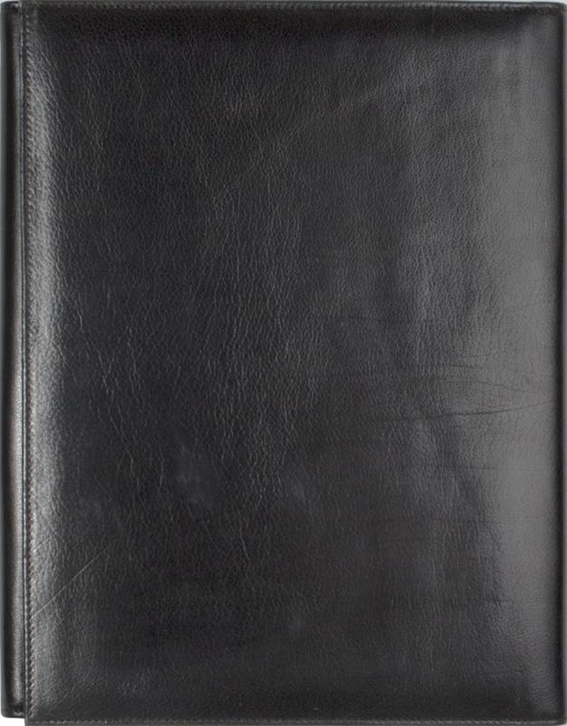 Kalpa Kalpa Geneve schrijfmap classic zwart - leer