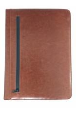 Kalpa Alpstein schrijfmap met rits cognac