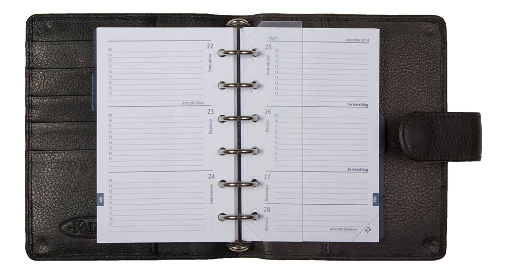 Kalpa 1311-Zp Kalpa pocket organiser Pancho black - leather + free agenda