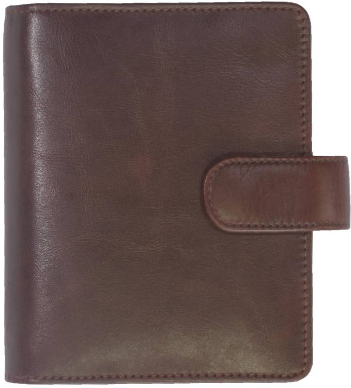 Kalpa 1311-Jr Kalpa pocket organiser Ralto brown - leather + free agenda