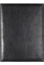 Kalpa Zurich schrijfmap klassiek zwart - leer