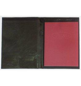 Kalpa 2200-Ij Zurich writing case black with brown strip - leather
