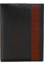 Kalpa Zurich writing case black with brown strip - leather