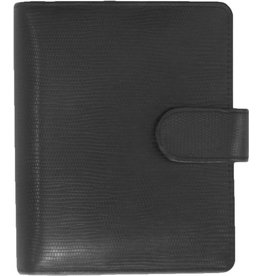 Kalpa 1311-Ca Kalpa Junior Pocket Organiser Handmade Leather With Paper Fillers, Journal, Diary - Agypaprint Black