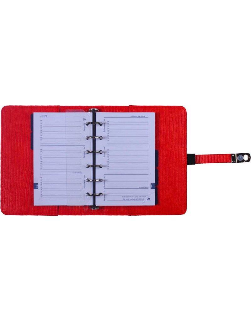 Kalpa Pocket organiser croco bricky red