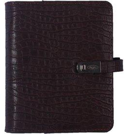 Kalpa 1311-49 Pocket organizer Croco Koffiebruin