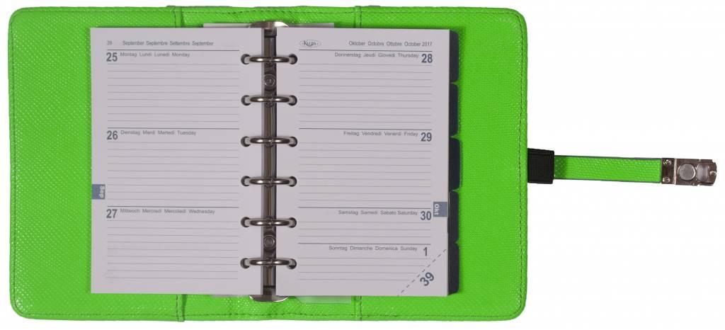 Kalpa 1311-57 Kalpa Junior Pocket Organiser With Paper Fillers, Weekly Planner, Journal, Diary - Marker Green