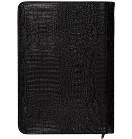Kalpa 2400-52 A4 Writing case with zip - croco zwart