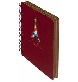 Dreamnotes D5129-1 Dreamnotes notitieboek Eiffeltoren 13 x 18,5 cm rood