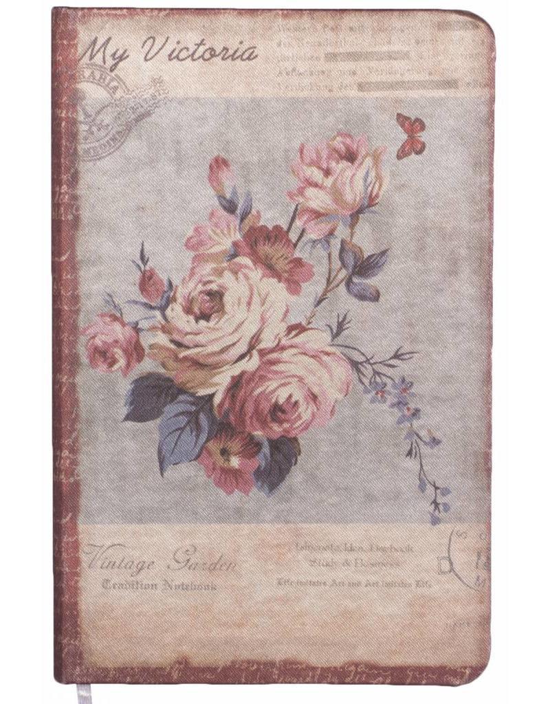 Dreamnotes Dreamnotes notitieboek Mijn Victoria: paars roze roos 9 x 14 cm.