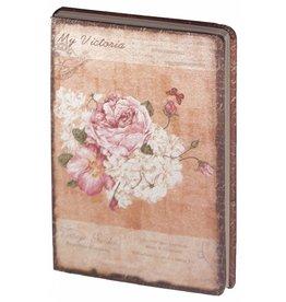 Dreamnotes D8025-1 Dreamnotes notitieboek Mijn Victoria: roze roos 9 x 14 cm.