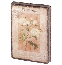Dreamnotes D8025-2 Dreamnotes notitieboek Mijn Victoria: gele roos 9 x 14 cm.