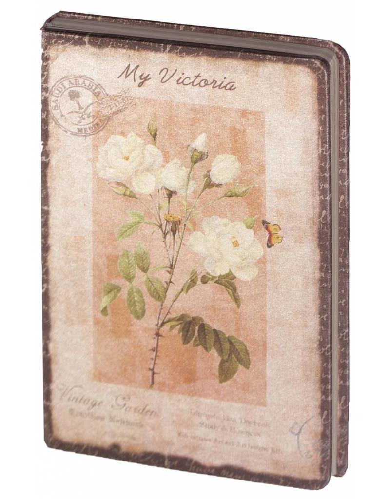 Dreamnotes D8025-2 Dreamnotes notitieboek My Victoria 9 x 14 cm. - Yellow roze