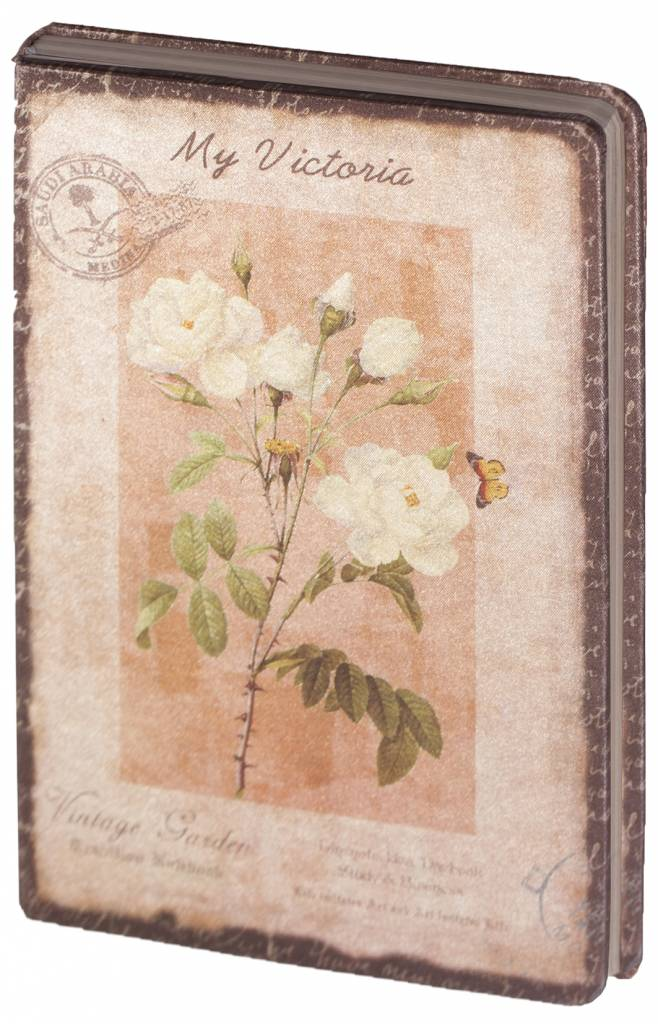 Dreamnotes D8025-2 Dreamnotes notebook My Victoria 9 x 14 cm - Yellow Rose