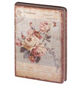 Dreamnotes D8025-3 Dreamnotes notitieboek mijn Victoria: paars roze roos 9 x 14 cm