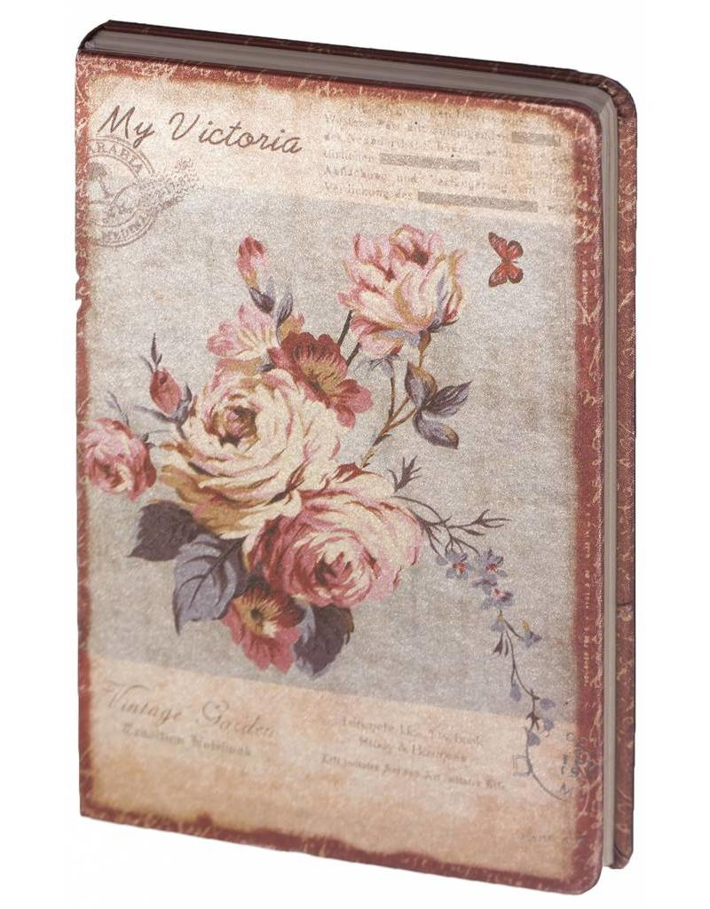 Dreamnotes D8025-3 Dreamnotes notebook My Victoria 9 x 14 cm - Purple Pink Rose
