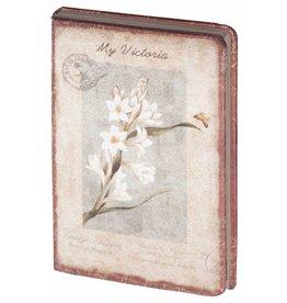 Dreamnotes D8025-4 Dreamnotes notitieboek Mijn Victoria: witte Orchidee 9 x 14 cm.