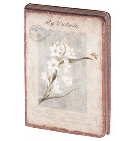 Dreamnotes D8025-4 Dreamnotes notitieboek My Victoria 9 x 14 cm. - wit Orchid