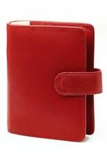 Kalpa Pocket (junior) organizer burnish rood - leer