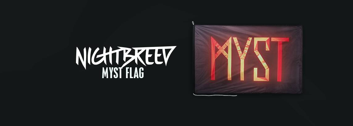MYST FLAG BLACK ORANGE