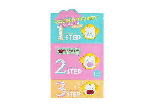 Holika Holika Golden Monkey Glamor Lip 3-Step Kit