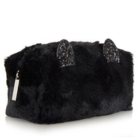 Skinny Dip London Black Kitty Make Up Bag