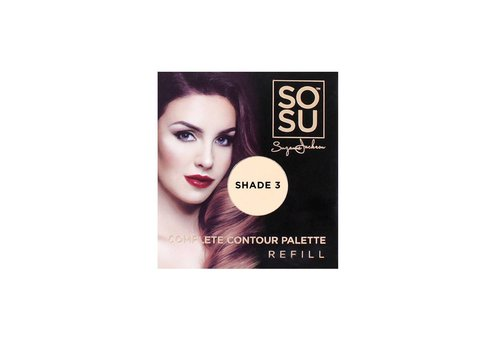 SOSU by Suzanne Jackson Complete Contour Palette Refill Shade 3