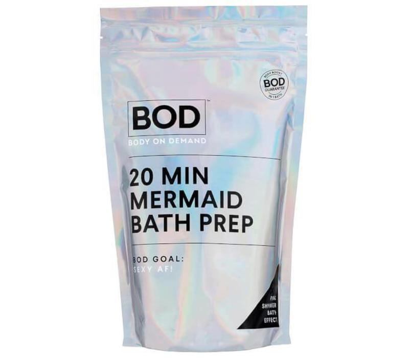 BOD Body on Demand 20 min Mermaid Bath Salts Pink Glitter
