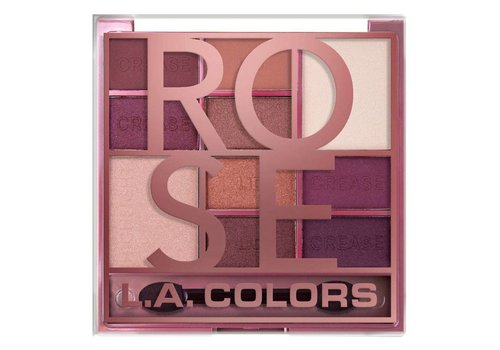 LA Colors Color Block Eyeshadow Palette Rose