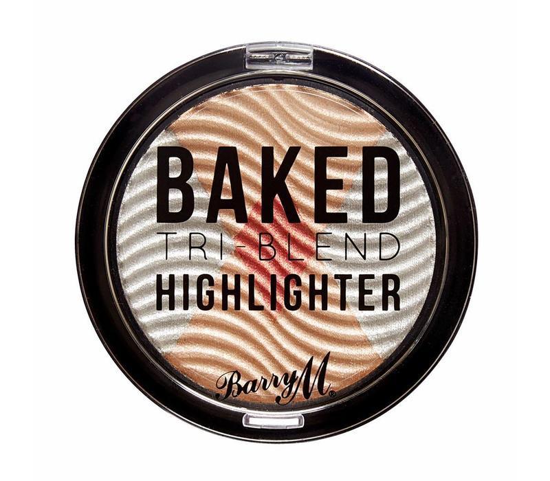 Barry M Baked Tri-Blend Highlighter Silver Solstice