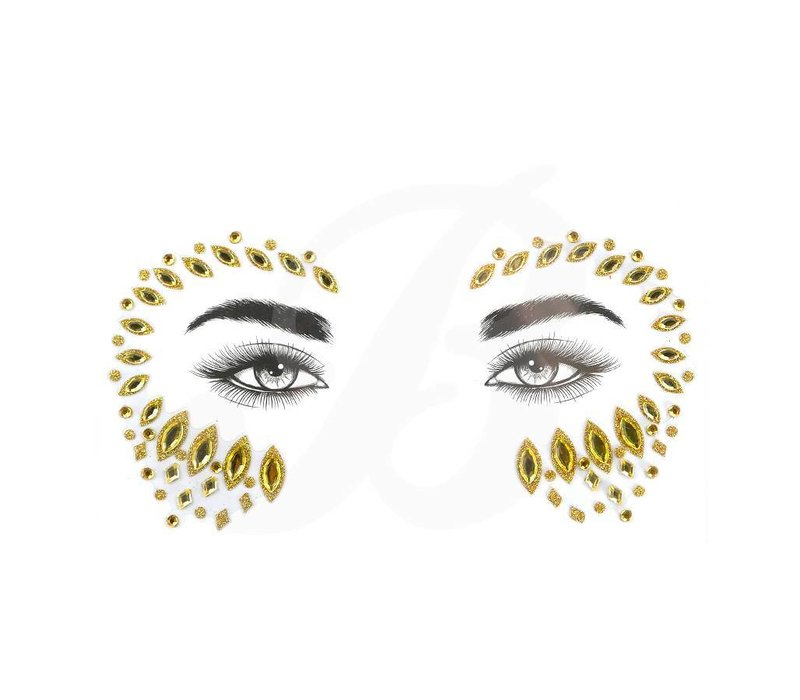 Festival Face Face Gems Pasha Gold Glitter