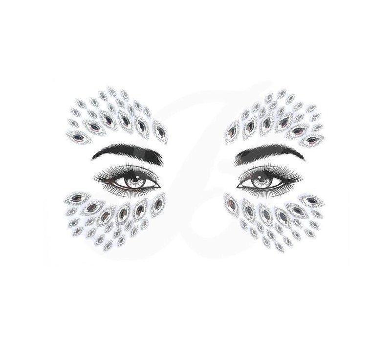 Festival Face Face Gems Glitter Azra Silver