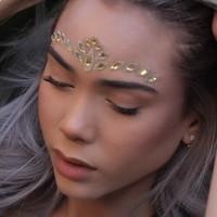 Festival Face Face Gems Lyra Gold Glitter