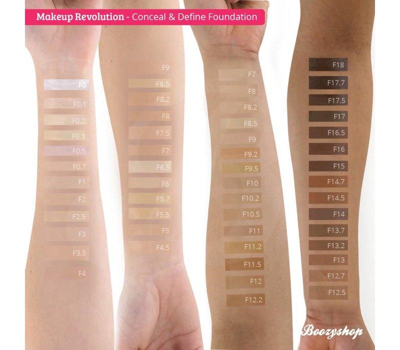 Makeup Revolution Conceal & Define Foundation F0.5