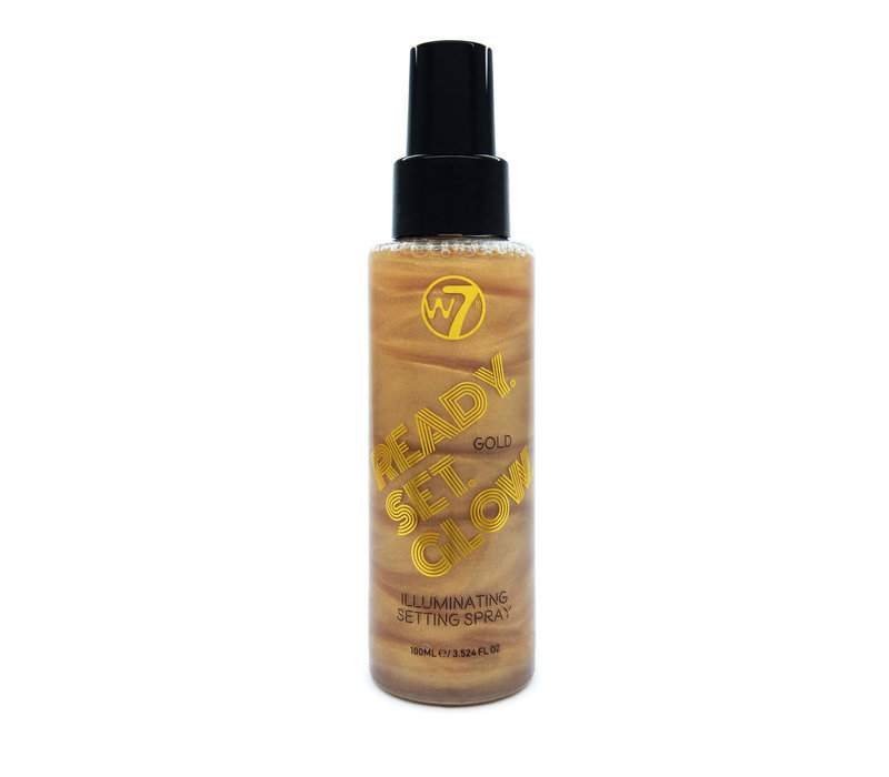 W7 Cosmetics Ready Set Glow Illuminating Setting Spray Gold