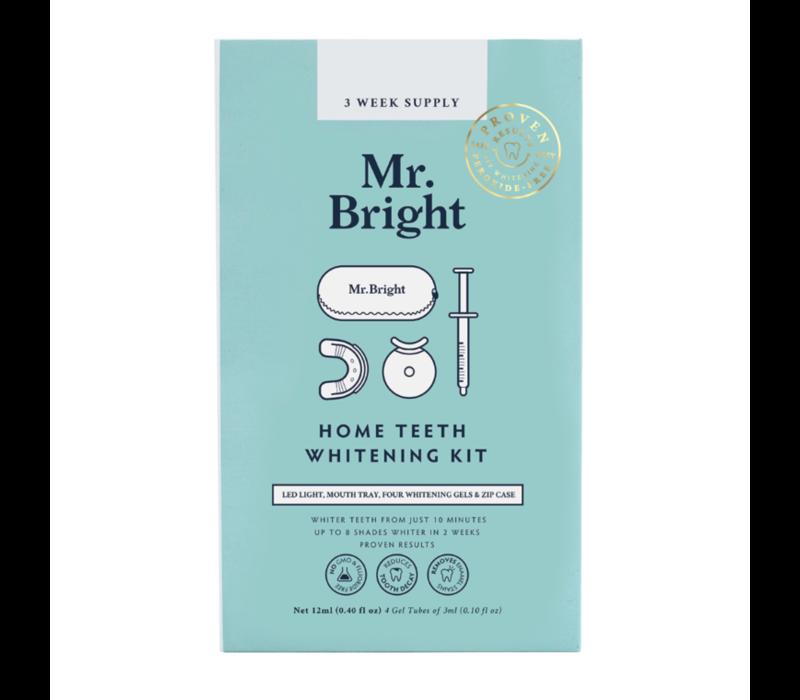Mr. Bright LED Light Whitening Kit + Travel Case - 3 week supply