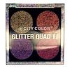 City Color City Color Glitter Quad II Eyeshadow Palette