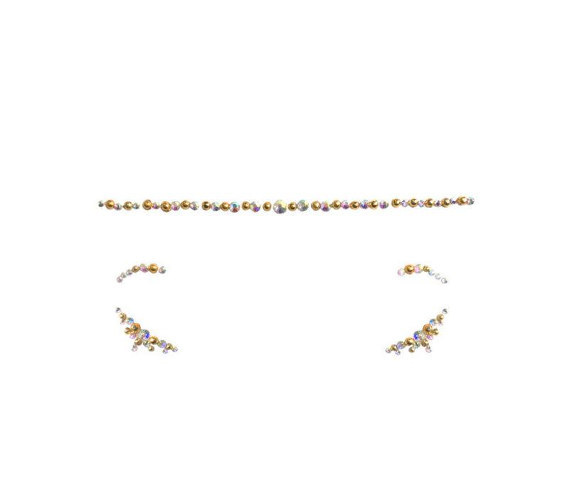 In Your Dreams Jewelled Headpiece & Eye Jewels Gold Alya
