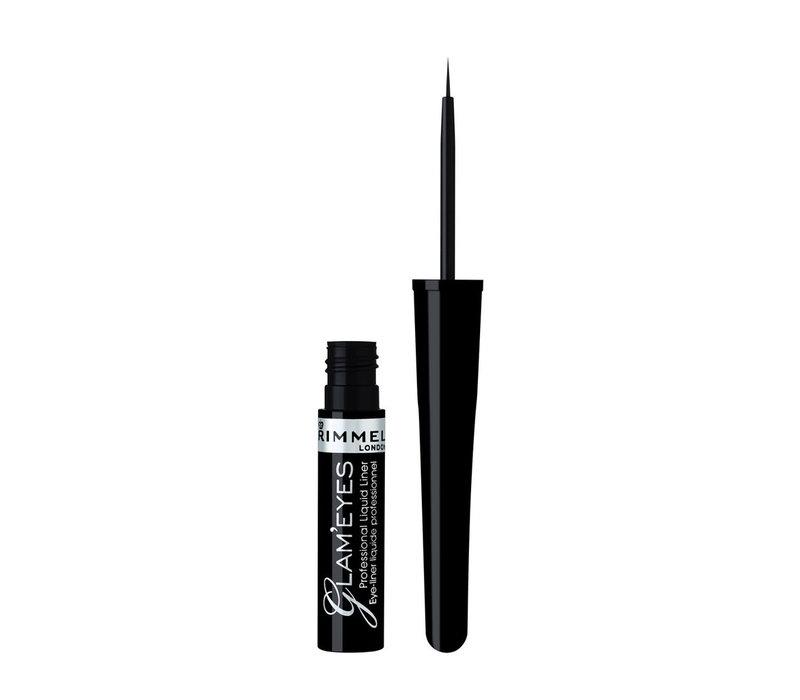 Rimmel London Glam'Eyes Professional  Liquid Eyeliner Black Glamour
