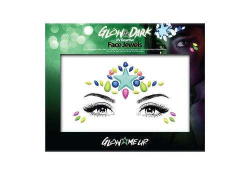 PaintGlow Glow in the Dark Face Jewels Star