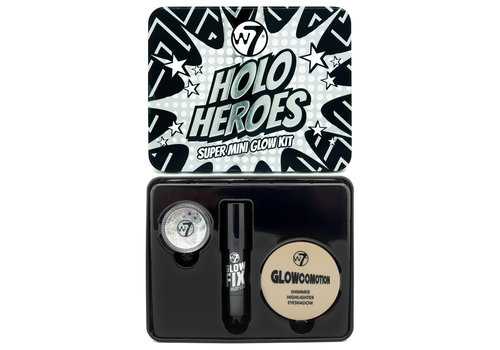 W7 Cosmetics Holo Heroes Super Mini Glow Kit